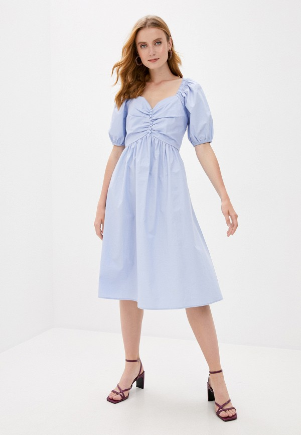 женское повседневные платье b.style, голубое