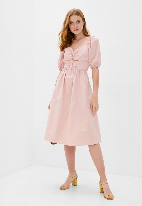 женское повседневные платье b.style, розовое
