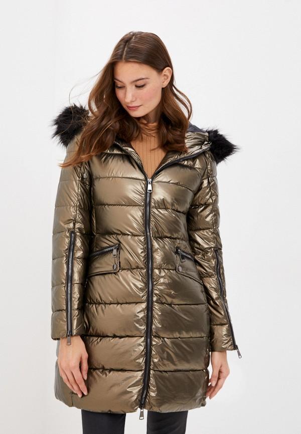 женская утепленные куртка b.style, золотая