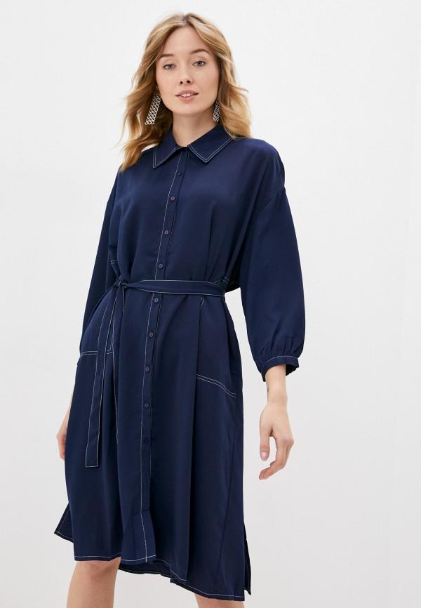 женское повседневные платье b.style, синее