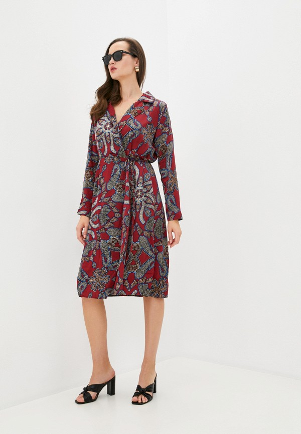 женское платье b.style, бордовое