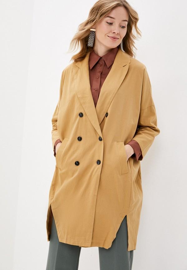 женское пальто b.style, бежевое