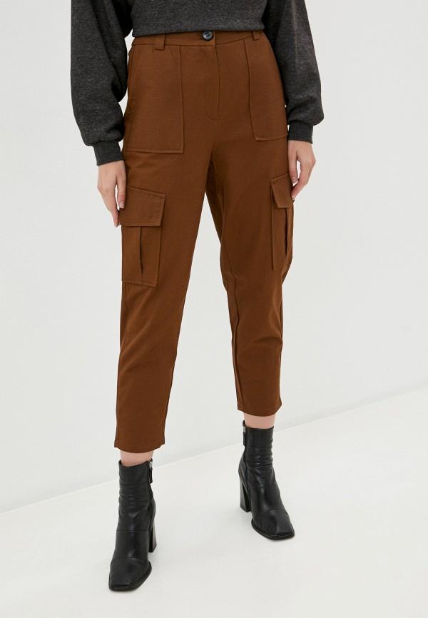 женские брюки b.style, коричневые