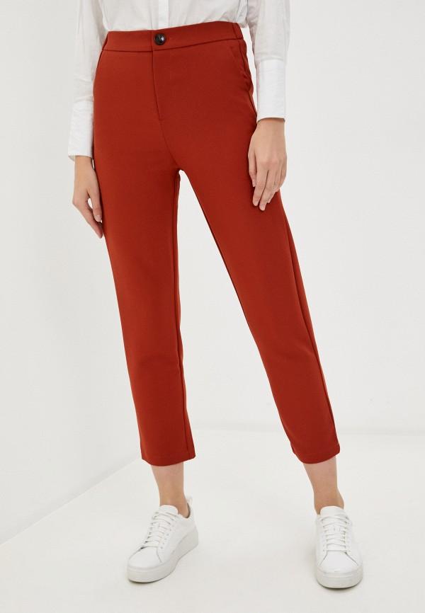 женские повседневные брюки b.style, красные