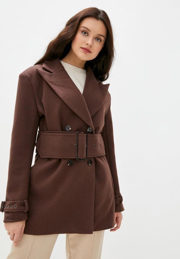 женское пальто b.style, коричневое