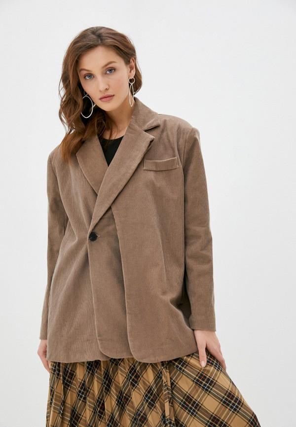 женский жакет b.style, коричневый