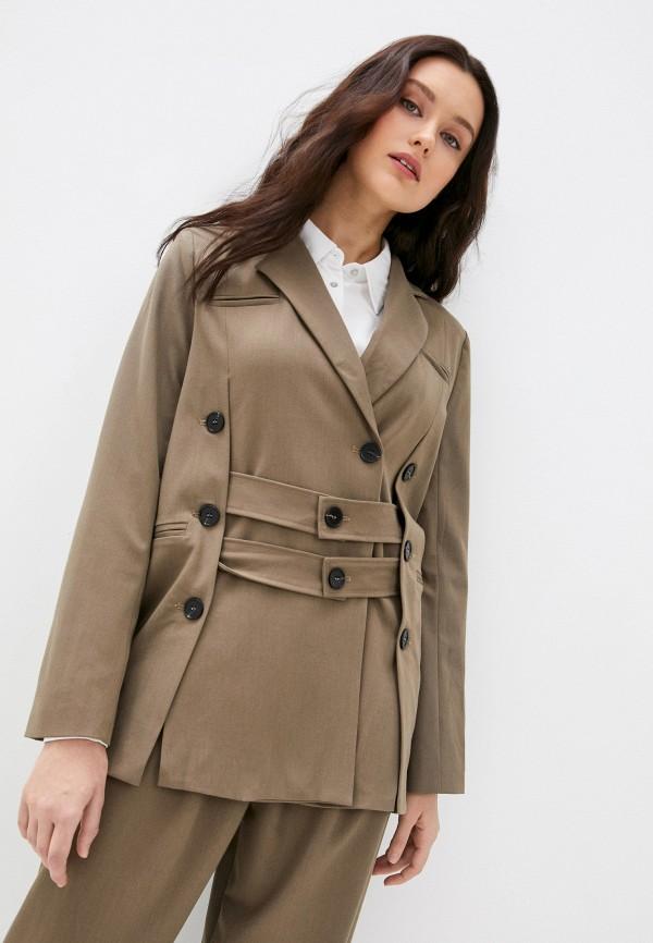 женский пиджак b.style, коричневый