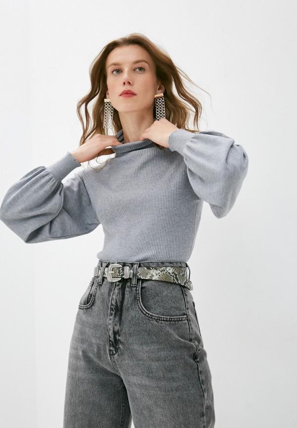 женская водолазка b.style, серая