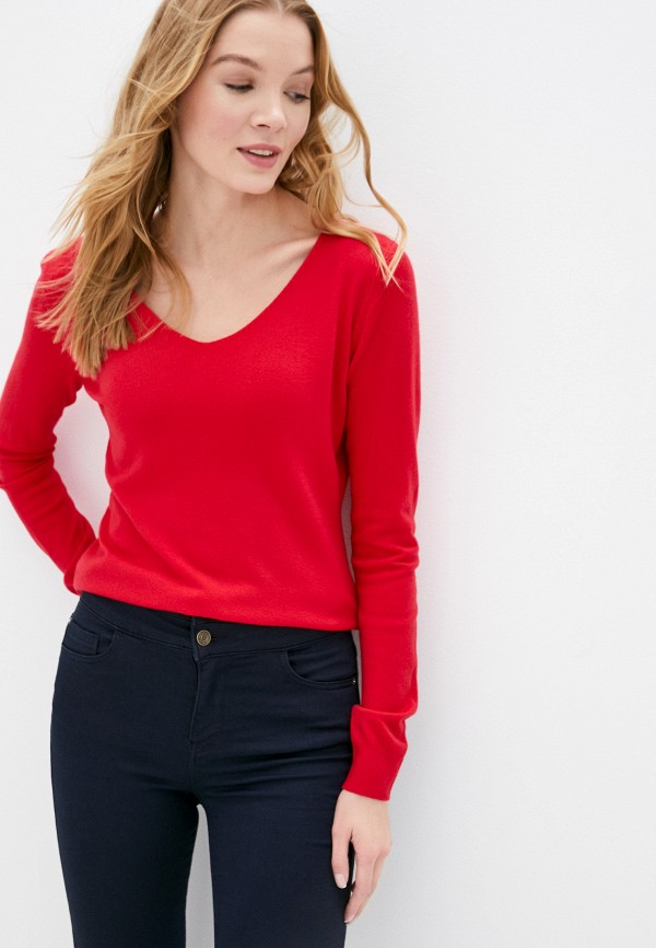 женский пуловер b.style, красный