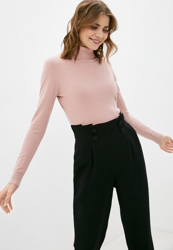 женская водолазка b.style, розовая