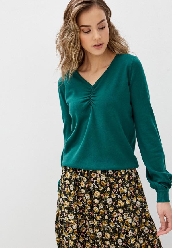 женский пуловер b.style, зеленый