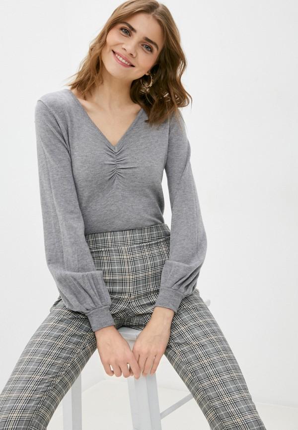 женский пуловер b.style, серый