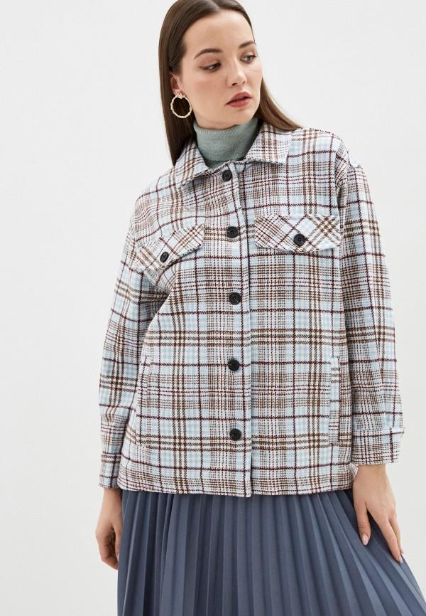 женское пальто b.style, голубое