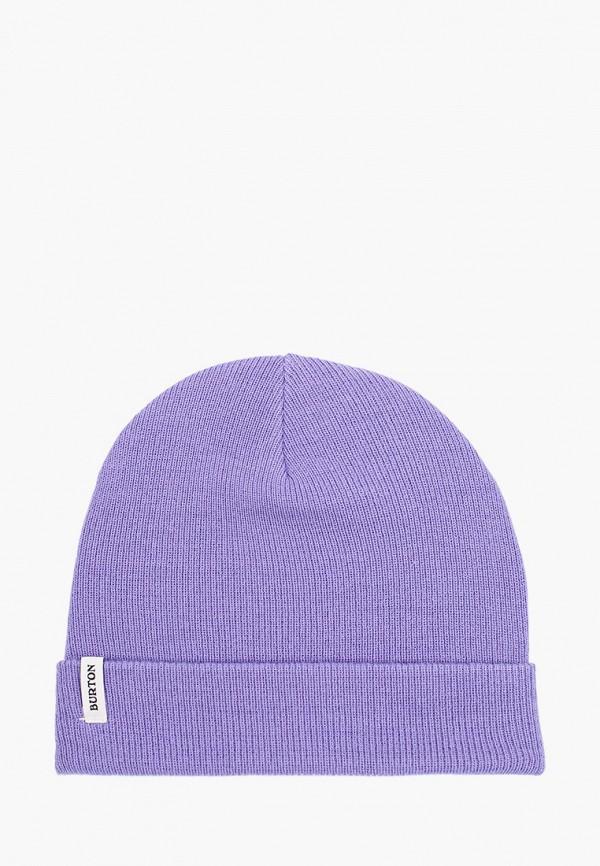 женская шапка burton, фиолетовая