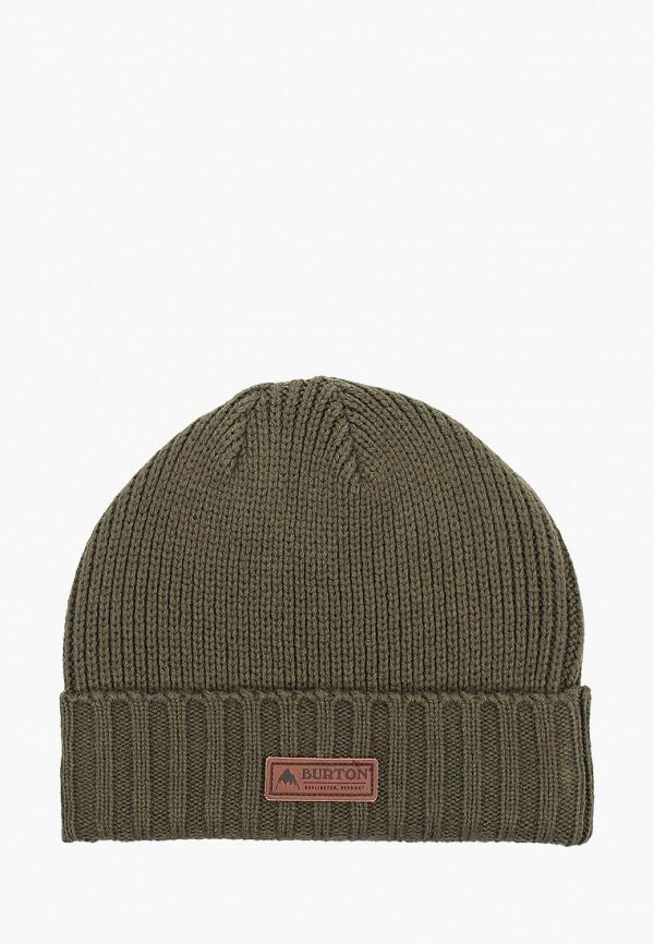 женская шапка burton, зеленая