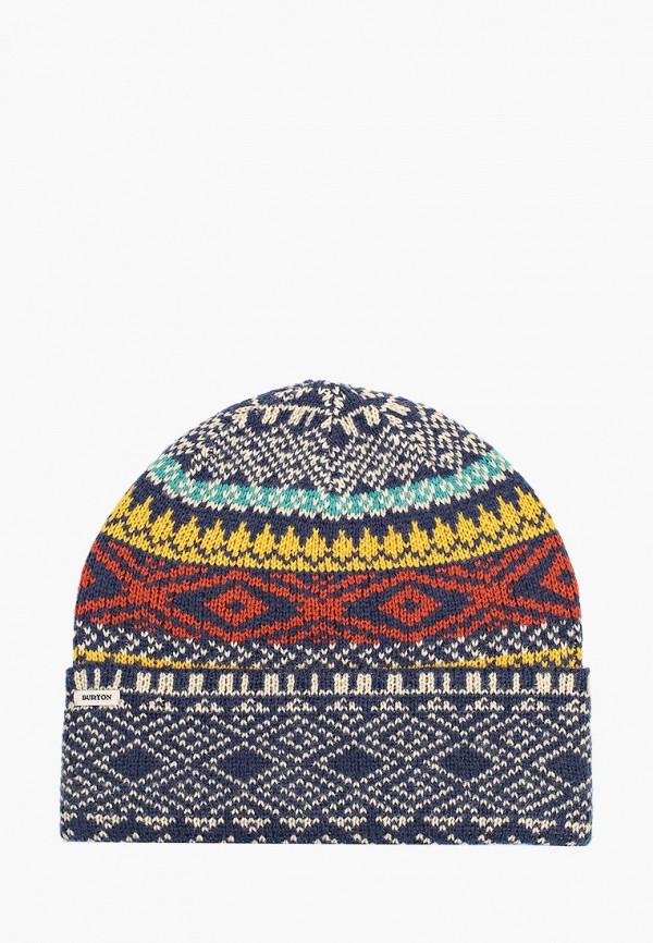 женская шапка burton, разноцветная