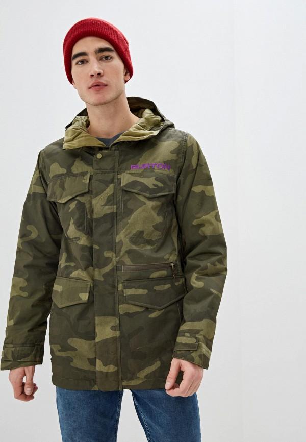 мужская куртка burton, зеленая