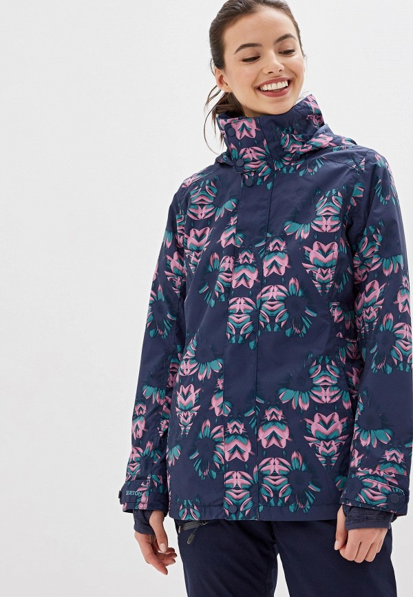 женская куртка burton, синяя