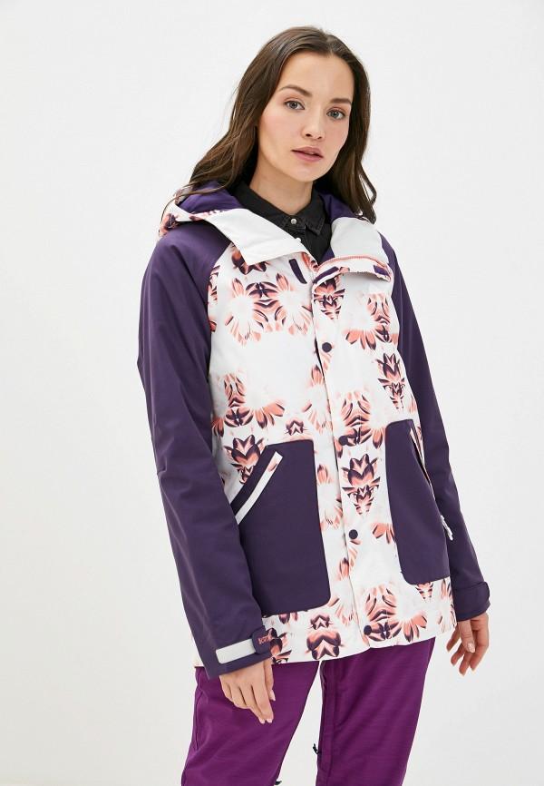 женская куртка burton, фиолетовая