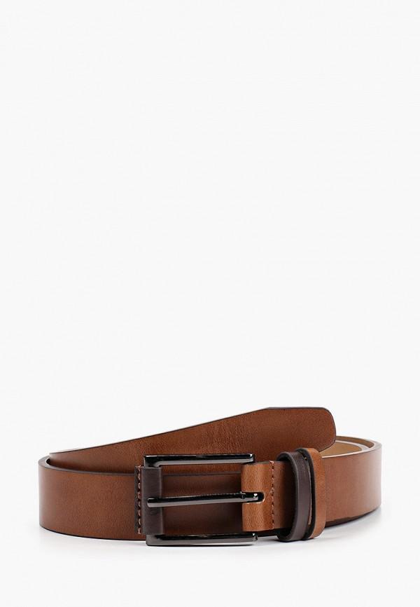 мужской ремень burton menswear london, коричневый