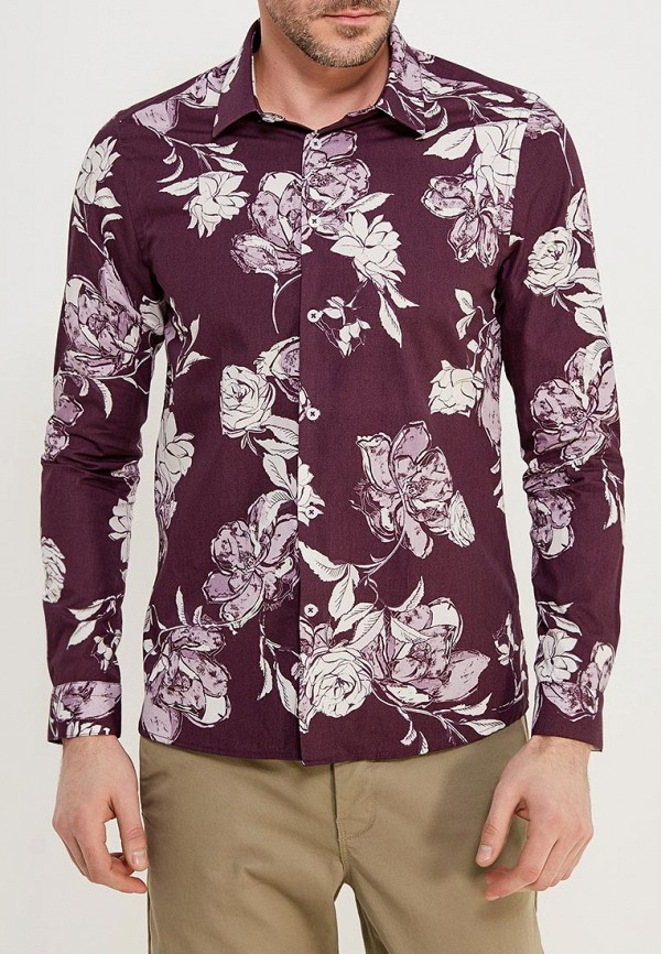 Купить Рубашка Burton Menswear London, BU014EMAHYP2, бордовый, Весна-лето 2018
