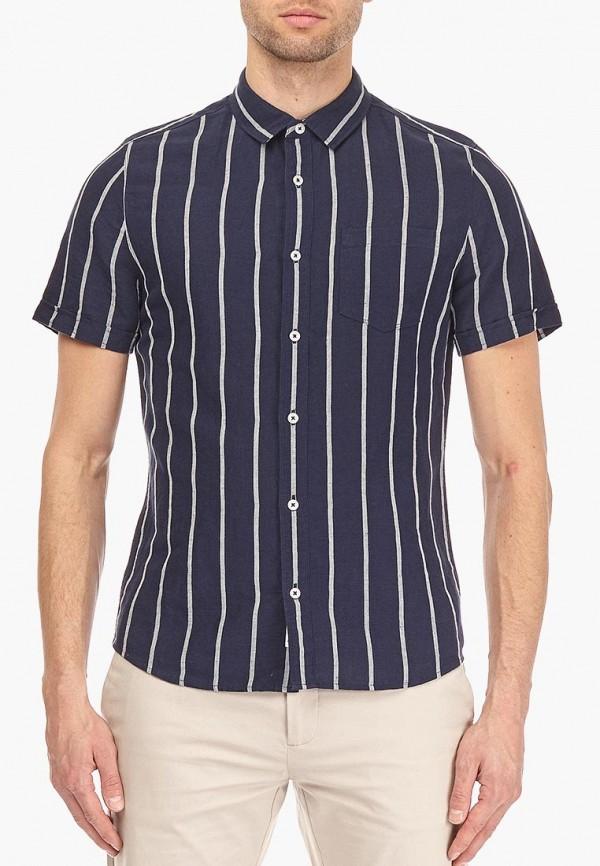 мужская рубашка с коротким рукавом burton menswear london, синяя