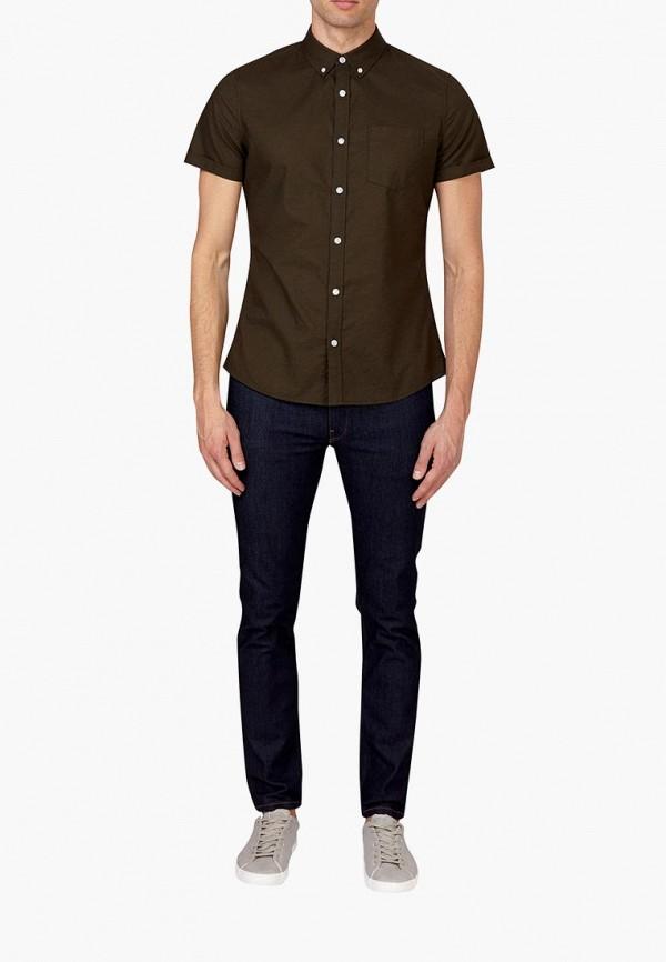 Фото 2 - мужскую рубашку Burton Menswear London цвета хаки