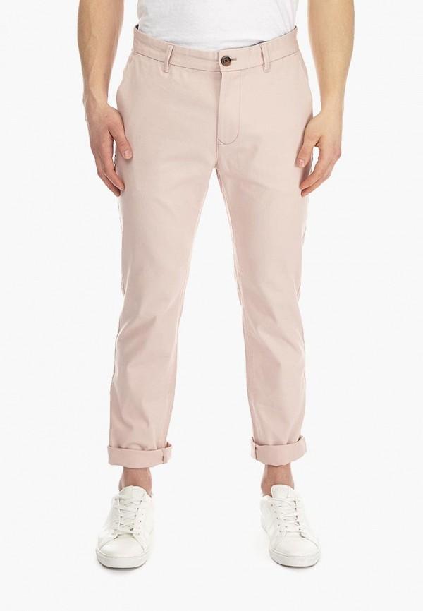 мужские брюки чинос burton menswear london, розовые