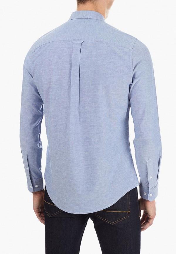 Фото 3 - мужскую рубашку Burton Menswear London голубого цвета