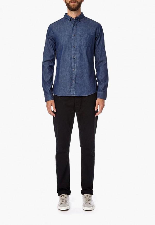 Фото 2 - Рубашку джинсовая Burton Menswear London синего цвета