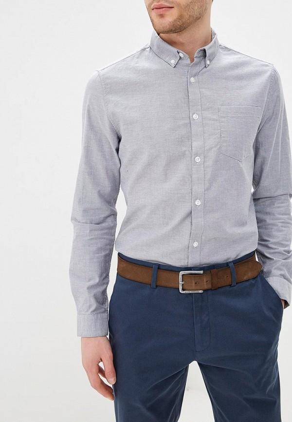 мужская рубашка с длинным рукавом burton menswear london, серая