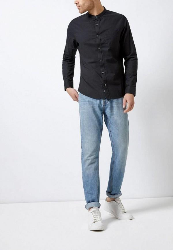 Фото 2 - мужскую рубашку Burton Menswear London черного цвета