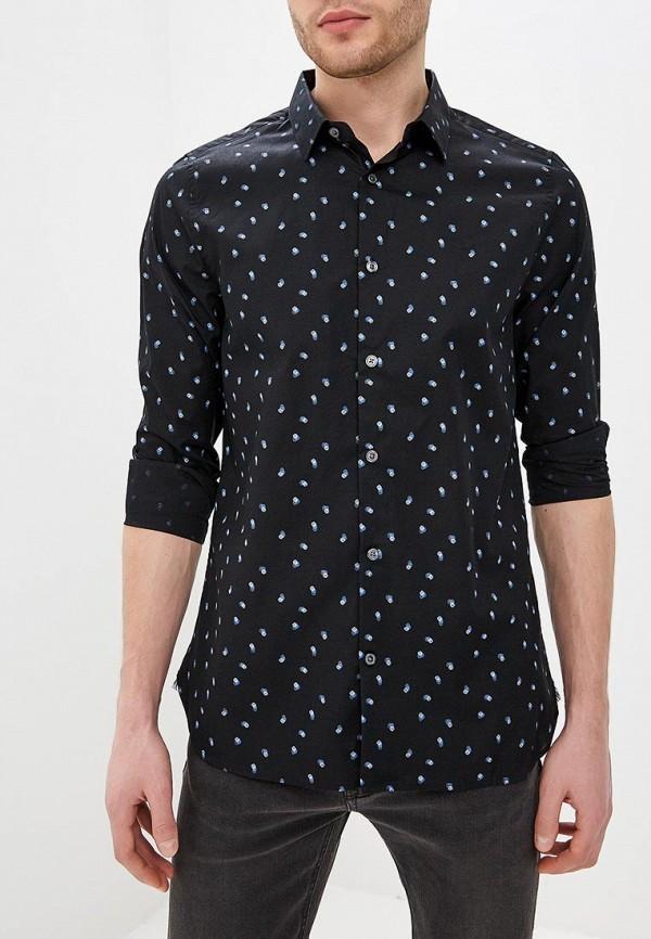 мужская рубашка с длинным рукавом burton menswear london, черная