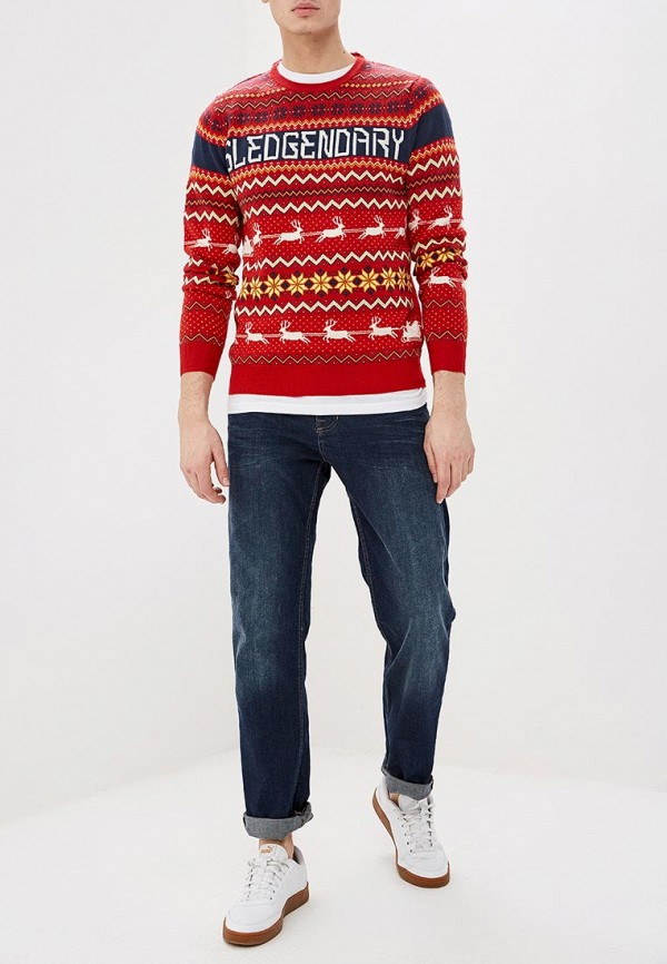 Фото 2 - мужское джемпер Burton Menswear London красного цвета