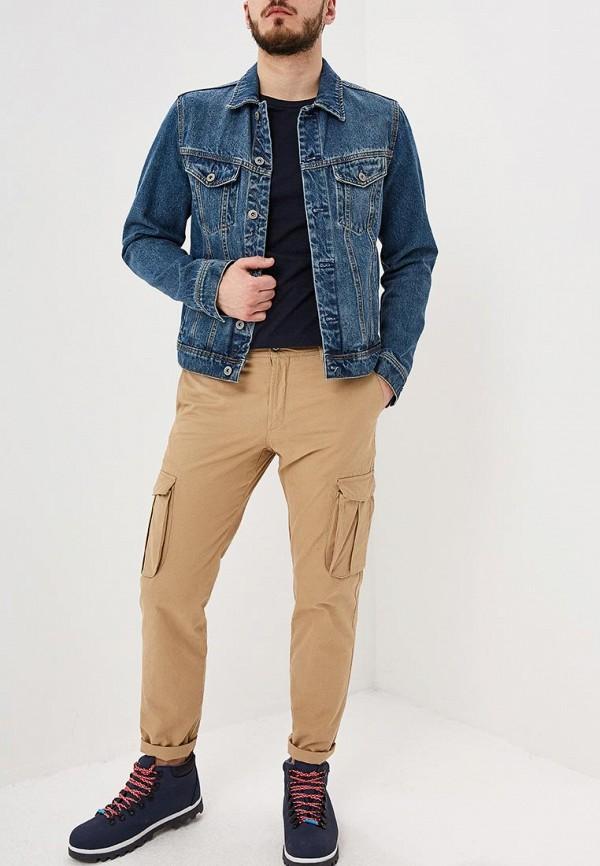 Фото 2 - мужскую футболку Burton Menswear London синего цвета