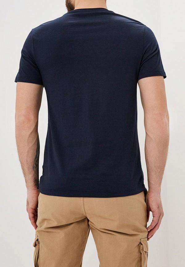 Фото 3 - мужскую футболку Burton Menswear London синего цвета