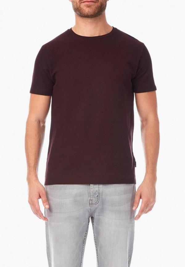 мужская футболка с коротким рукавом burton menswear london, бордовая