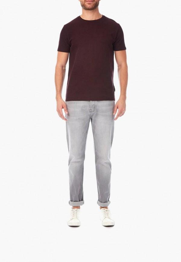 Фото 2 - мужскую футболку Burton Menswear London бордового цвета