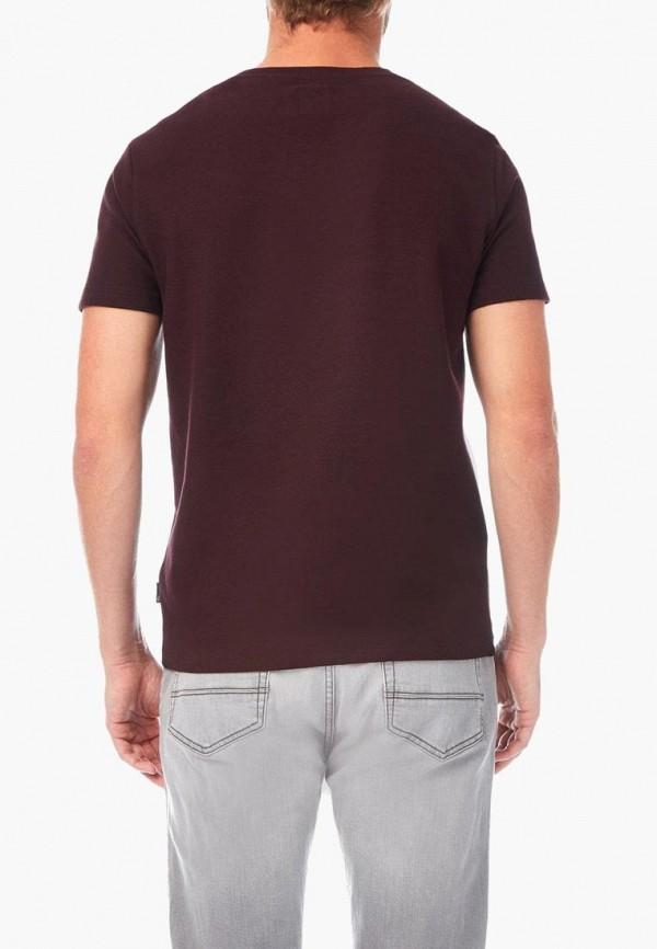 Фото 3 - мужскую футболку Burton Menswear London бордового цвета