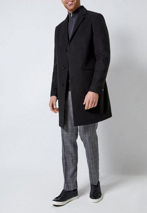 Фото 2 - мужское пальто или плащ Burton Menswear London черного цвета