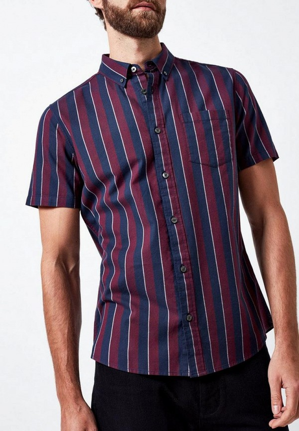 Фото - мужскую рубашку Burton Menswear London бордового цвета