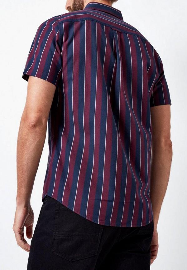 Фото 3 - мужскую рубашку Burton Menswear London бордового цвета