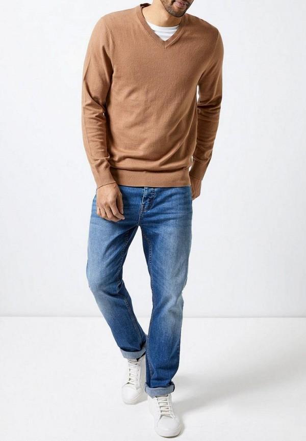 Фото 2 - мужской пуловер Burton Menswear London бежевого цвета