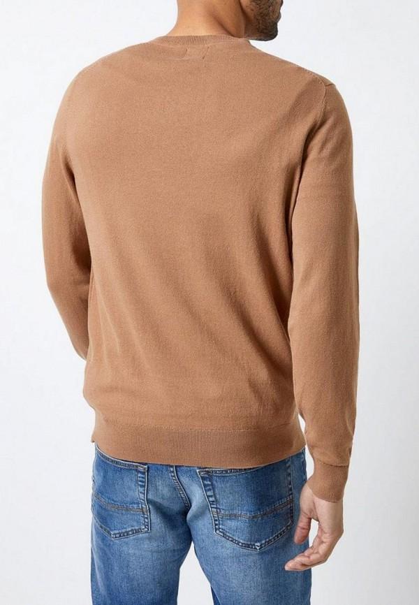 Фото 3 - мужской пуловер Burton Menswear London бежевого цвета