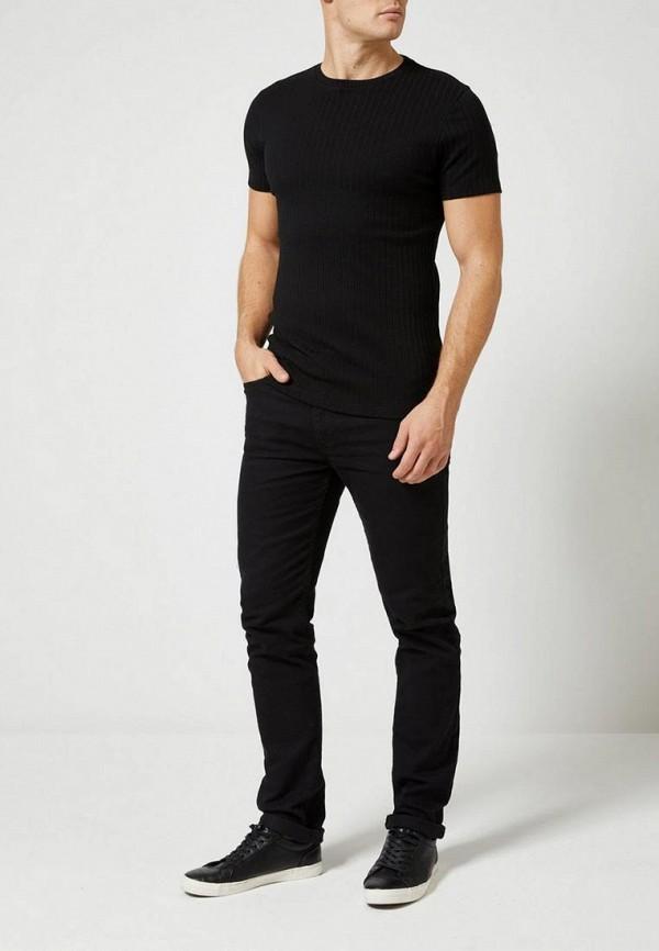 Фото 2 - мужскую футболку Burton Menswear London черного цвета