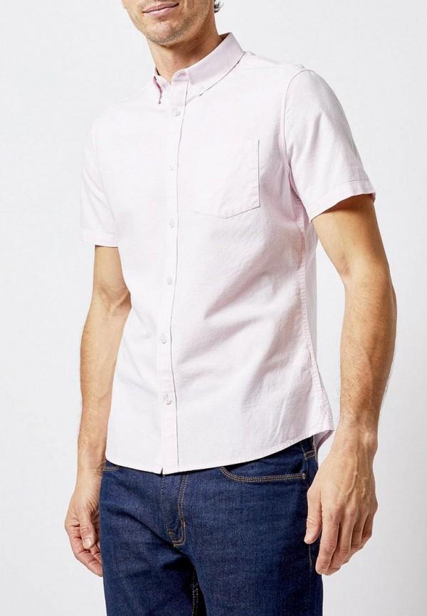 мужская рубашка с коротким рукавом burton menswear london, розовая