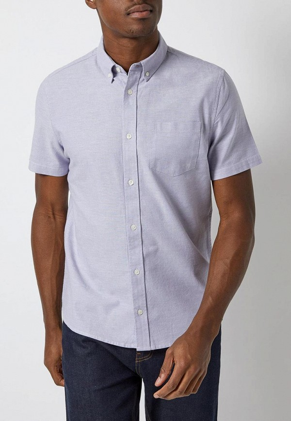 мужская рубашка с коротким рукавом burton menswear london, фиолетовая