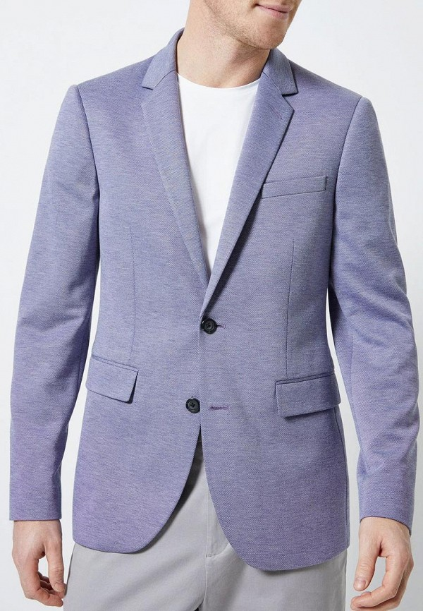 мужской пиджак burton menswear london, голубой