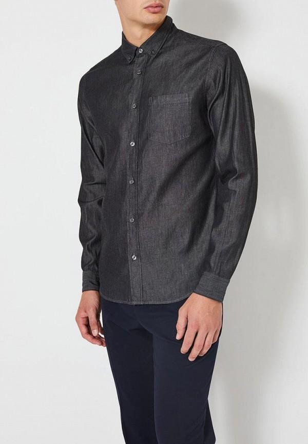 мужская джинсовые рубашка burton menswear london, серая