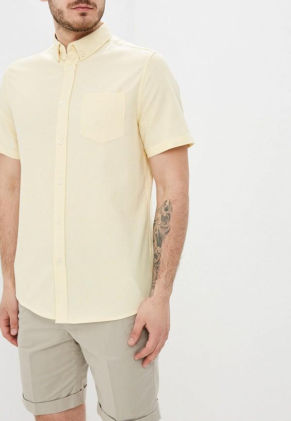 мужская рубашка с коротким рукавом burton menswear london, желтая